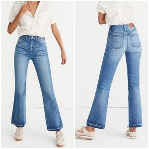 Madewell Rigid Flare Released Hem Denim Jeans